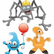 Cartoon monster set. — Stock Vector