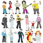 Cartoon peoples set. — Stock Vector