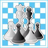 ベクトル イラスト。チェス. — ストックベクタ