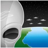 Vector illustration. Alien. — Stock Vector