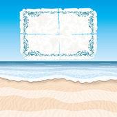 Fondo de verano. playa. — Vector de stock
