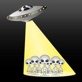Vector illustration. Aliens — Stock Vector