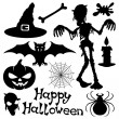 Vector halloween silhouettes. — Stock Vector
