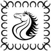 Horse on white background. — Stock Vector