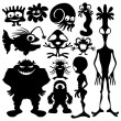 Vector set. Aliens and monsters. — Stock Vector