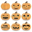 Vector set. Halloween pumpkins. — Stock Vector #32582137