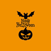 Happy halloween-zeichen. — Stockvektor