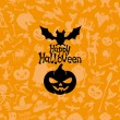 Happy halloween poster. — Vector de stock