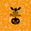 cartel de halloween feliz — Vector de stock  #34034951