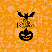 Happy halloween poster. — Stock vektor