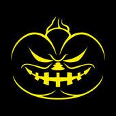 Halloween poster. pompoen. — Stockvector
