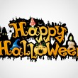 Happy Halloween poster. — Vettoriale Stock #34364501