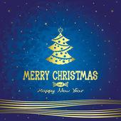 Cartel de Navidad feliz. — Vector de stock