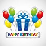 Happy birthday poster. — Stock Vector #35159857