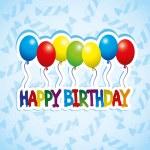 Happy birthday poster. — Stock Vector #35159877
