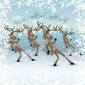 Zimní obrázek. jeleni. — Stock vektor