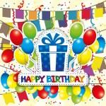 Happy Birthday poster. — Stock Vector #36317465