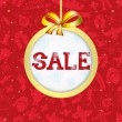 Christmas poster. Sale. — Stock Vector