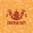 Christmas party. — Stock Vector