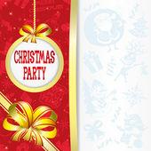 Cartão de vetor. festa de natal. — Vetorial Stock