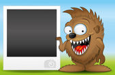 Monster and photo frame. — Stock Vector