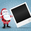 Santa Claus and photo frame. — Stock Vector