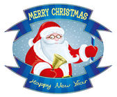 Etichetta di Babbo Natale. — Vettoriale Stock