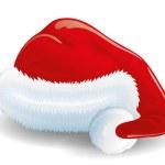 Santa hat on white. — Stock Vector