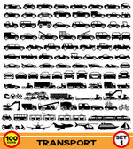 Vector set. Transportation icons. — Stock Vector