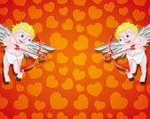 Illustration for your text. Cupids. — Stockvector