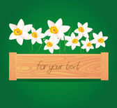 Vector. Floral sign for your text. — Stock Vector