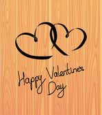 Vector card. Happy Valentines Day. — Stock Vector