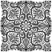 Floral pattern isolated on white. — Stock Vector