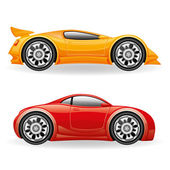 Sports cars on white. — Stock Vector