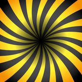 Rayos de color amarillos y negros. — Vector de stock