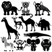 Animal signs on white. — Stock Vector