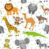 Background. African animals. — Stockvektor