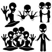 Vector set. Extraterrestrial. — Stock Vector