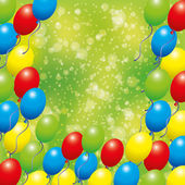 Vector background. Balloons. — Stock Vector