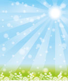 Vector background. Sun rays. — Stock Vector