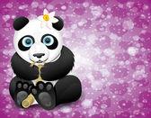 Vector poster. Panda. — Stock Vector
