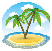 Tropical island. — Stock Vector