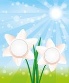 Vector background. Flowers. — Vector de stock