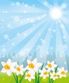 Vector background. Flowers. — Stock Vector