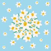 Blommor på blå. — Stockvektor