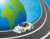 Vehículo en la carretera. — Vector de stock