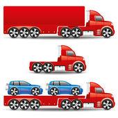 Vector set. Trucks. — Stock Vector