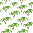 Palm trees isolated on white. — Vector de stock