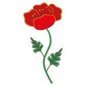 Vector. Red flower. — Vettoriale Stock