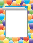 Vector frame. Balloons. — Stock Vector